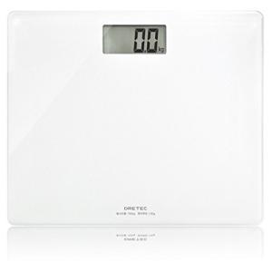 ドリテック 体重計 ボディスケール グラッセ ホワイト BS-159WT|mediaearth
