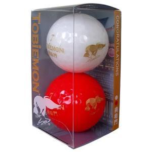 TOBIEMON(トビエモン) ゴルフボール 公認球 2ピース 2個入り 紅白 FGDFLC-RW mediaearth