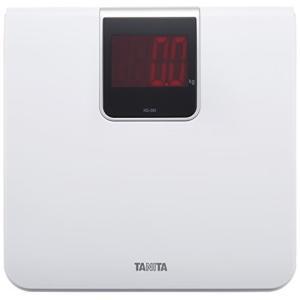 タニタ 体重計 デジタル 大画面 LED ホワイト HD-395 WH 乗るだけで電源オン|mediaearth
