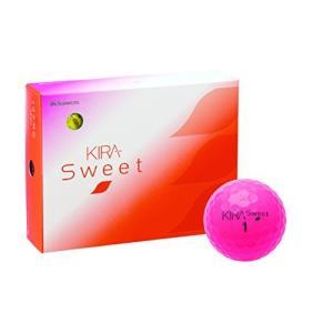 キャスコ(Kasco) ゴルフボール KIRA SWEET 1ダース(12個入り) ピンク mediaearth