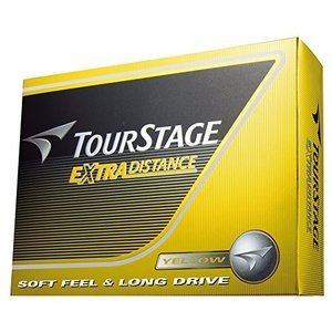 BRIDGESTONE(ブリヂストン) ゴルフボール TOURSTAGE エクストラディスタンス 1ダース( 12個入り) イエロー TEYX mediaearth