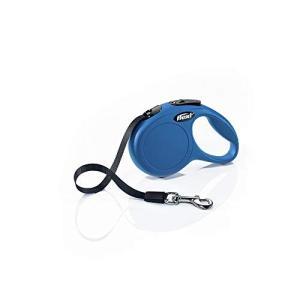 フレキシ (flexi) ニュークラシック テープ XS(12kg未満) 3m ブルー [犬用リード]|mediaearth