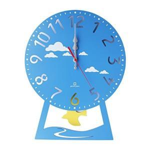 ヤマト工芸 CHILD clock (振り子時計) はと ライトブルー YK14-104|mediaearth