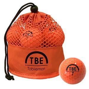 TOBIEMON(トビエモン) ゴルフボール 公認球 2ピース 1ダース(12個入り) オレンジ メッシュバック入り TBM-2MBO mediaearth