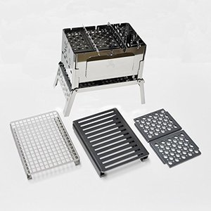 ※グリルプレート、ロストルは黒皮鉄板に表面加工を一切しておりませんので、最初から若干の錆や加工過程に...