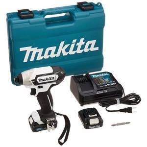 マキタ(Makita) 充電式インパクトドライバ(白) 10.8V 1.5Ah バッテリ2本・充電器・ケース付 TD110DSHXW|mediaearth
