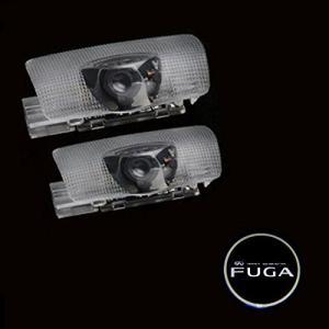 日産フーガ専用 LEDカーテシランプ プロジェクター ドアカーテシ ランプ FUGAロゴ入り 高輝度 2PCSセット 取付け簡単 お買得 [並行輸入品|mediaearth