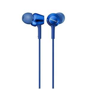 ソニー SONY イヤホン MDR-EX255AP : カナル型 リモコン・マイク付き ブルー MDR-EX255AP L|mediaearth