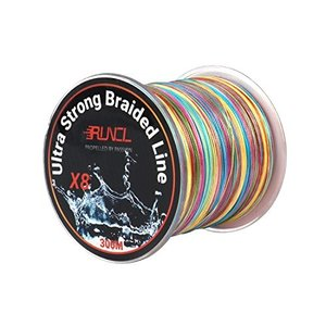 ランケル(RUNCL)高強度 PEライン 釣り糸 8編 5色 マルチカラー100m 300m 500m 1000m【0.4号 0.6号 0.8号 1号|mediaearth