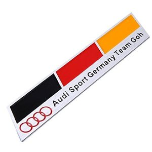 アウディ Audi エンブレム プレート ステッカー メタル ドイツ国旗 エンブレム|mediaearth
