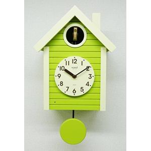 さんてる(Suntel) 掛け時計 405×240×140mm 国産 手作り 鳩時計 北欧カラー スプリンググリーン SQ03SG|mediaearth