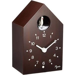 セイコー クロック 掛け時計 置き時計 兼用 アナログ かっこう時計 数取り PYXIS ピクシス 木枠 茶木地 NA609B SEIKO|mediaearth