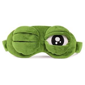 Montenas アイマスク カエル 柔らか 遮光 リラックス 睡眠 疲れ目 安眠 おもしろ 立体型 快眠グッズ|mediaearth