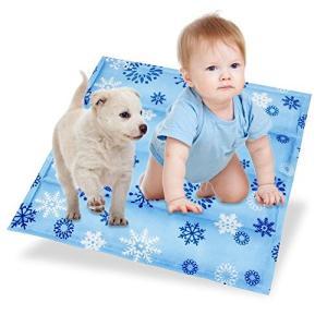 Dopet ひんやり座布団 涼感冷感クッション (45cm*45cm) 冷却ジェル クール枕 冷たいパッド ジェルマット 涼感冷感マット ひんやり枕|mediaearth