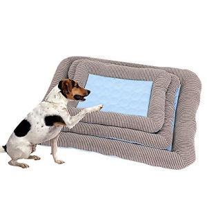 ペットベッド 夏用 暑さ対策 アイスシルク生地 小中大型犬用 クッション ペット マット ベッド 犬猫兼用 熱中症防 吸熱素材 耐噛み クッション ク|mediaearth