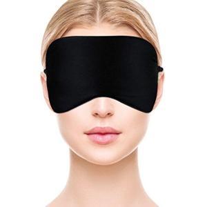 KISEKI アイマスク シルク100% ふんわり仕上げ 睡眠マスク 軽量 安眠 遮光 疲労回復 昼寝 旅行に最適(ブラック)|mediaearth