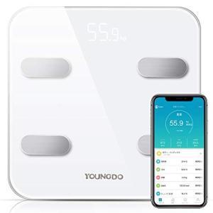 体重 体組成計 体脂肪計 YOUNGDO スマートスケール Bluetooth 体脂肪率 体水分率 筋肉率 骨量 内臓脂肪 蛋白質率 BMR(基礎代謝|mediaearth