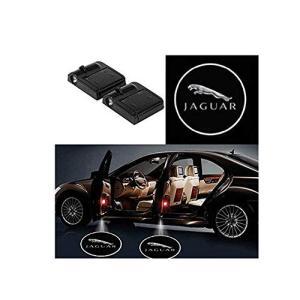 Ephvan 2個ワイヤレス車のドアledウェルカムレーザープロジェクターロゴライトゴーストシャドウライトランプロゴ(ジャガー)|mediaearth