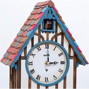 手作り木製ハト時計 ブルー WDK02|mediaearth