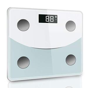 体重計 体組成計 体脂肪計 デジタル ダイエット Bluetooth対応 アプリで健康管理 BMI 体脂肪率 筋肉量 体水分量 ヘルスメーター 薄型|mediaearth