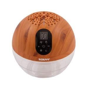 バイオナースボール DX 「水で空気を洗う」 アロマ空気清浄機 大容量 抗菌消臭付 PM2.5 対応 花粉 黄砂 LEDライト (ウッドスタイル)|mediaearth