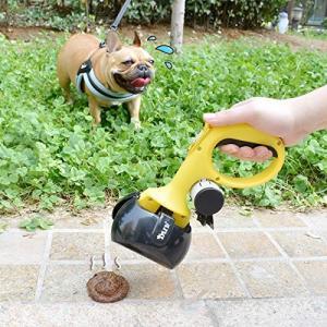 ランダムカラーペットの糞取り器 フンキャッチャー うんち取り ペットの散歩用 猫用 犬用 糞拾い 手が汚れない 持ち運びやすい お出かけ用 長い把手|mediaearth