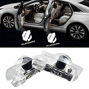 Wxoauck 2個セットドア高輝度のLEDチップ トヨタ アルファード alphard 30系ロゴ カーテシランプ カーテシライトゴーストシャドーラ|mediaearth