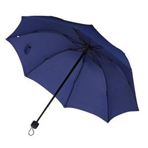 傘 レディース 折りたたみ おしゃれ 雨傘 軽量 丈夫 手動 8本骨 コンパクト シンプル 無地 カラフル 選べる 全 10 色 (09 : ネイビーの画像