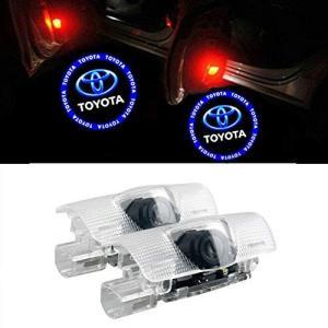 GEEANDLY 車用 カーテシーランプ トヨタ ロゴ 高輝度のLEDチップ カーテシライト ドアライト 2個セットドア 前後左右取り付け可能・角度調|mediaearth