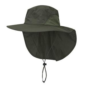 CHIC DIARY 漁師キャップ 日除け帽子 釣り サーフハット フィッシングハット ガーデニング帽子 登山 農作業 アウトドア 通気性がいい 日よ|mediaearth