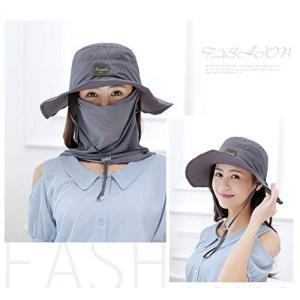アウトドア ネックガード農作業用 帽子 ぼうし メッシュ 使用 紫外線 から 360度 ガード / UV カット 日焼け 防止 顔 首 日よけ カバー|mediaearth