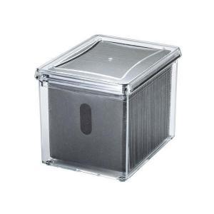 サンワサプライ ブルーレイディスク対応アクリルボックスケース(100枚収納) FCD-FBOX14CL 代引き不可/同梱不可|mediaroad1290