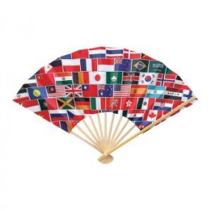 国旗扇子 万国旗 5088 代引き不可/同梱不可の画像