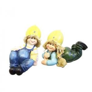 かわ畑 ディスプレイとしてかわいい♪ 置物 寝そべり人形 レモン 2SET 1801HUN006 代引き不可/同梱不可|mediaroad1290