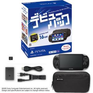 『中古即納』{B品}{本体}{PSVita}PlayStation Vita デビューパック 3G/Wi-Fiモデル クリスタル・ブラック(PCHJ-10026)(20150219)|mediaworld-plus