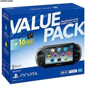 『中古即納』{本体}{PSVita}PlayStation Vita 16GB バリューパック Wi-Fiモデル ブラック(PCHJ-10032)(20171122)|mediaworld-plus