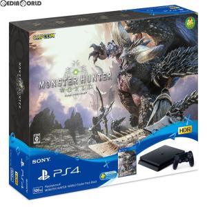 『中古即納』{本体}{PS4}プレイステーション4 PlayStation4 MONSTER HUNTER: WORLD モンスターハンター:ワールド Starter Pack Black CUHJ-10022 20180126 の商品画像|ナビ