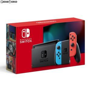 『中古即納』{未使用}{本体}{Switch}Nintendo Switch(ニンテンドースイッチ) Joy-Con(L) ネオンブルー/(R) ネオンレッド(HAD-S-KABAA)(20190830) mediaworld-plus