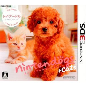 『中古即納』{3DS}nintendogs+cats(ニンテンドッグス+キャッツ) トイ・プードル&...