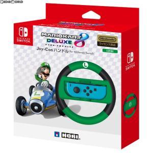 『中古即納』{ACC}{Switch}マリオカート8 デラックス Joy-Conハンドル ルイージ ...