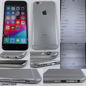 『中古即納』{SP}iPhone6 64GB(スペースグレイ) au(エーユー) Apple(アップル)(NG4F2J)|mediaworld-plus