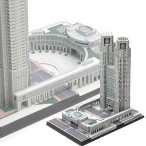 『新品即納』{PTM}1/2000 東京都庁舎 プラモデル ウェーブ(WAVE)(20150724)|mediaworld-plus