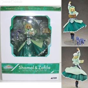 『中古即納』{FIG}シャマル & ザフィーラ(Shamal & Zafila) 仔犬Ver. 魔法少女リリカルなのはStrikerS 1/7 完成品 フィギュア アルター(20100531)|mediaworld-plus