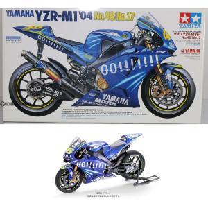 『中古即納』{PTM}オートバイシリーズ No.98 1/12 ヤマハYZR-M1 '04 No.46/No.17 プラモデル(14098) タミヤ(20041110)|mediaworld-plus