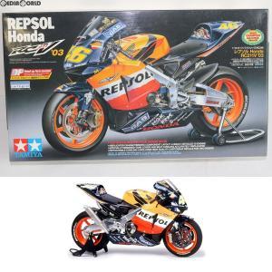 『中古即納』{PTM}オートバイシリーズ No.96 1/12 レプソル Honda RC211V '03 プラモデル(14096) タミヤ(20040225)|mediaworld-plus