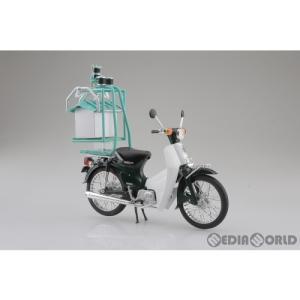 『中古即納』{FIG}1/12 完成品バイク Honda(ホンダ) スーパーカブ50 出前機付 ミニカー スカイネット(アオシマ)(20190831)|mediaworld-plus