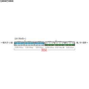 『予約安心発送』{RWM}98983 限定 しなの鉄道 115系電車(S7編成初代長野色・S15編成)セット(6両) Nゲージ 鉄道模型 TOMIX(トミックス)(2017年12月)|mediaworld-plus