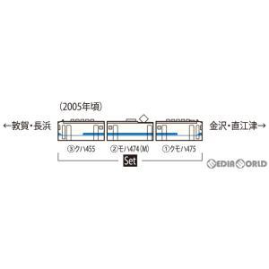『予約安心発送』{RWM}HO-9056 JR 475系電車(北陸本線・新塗装)セット(3両)(動力付き) HOゲージ 鉄道模型 TOMIX(トミックス)(2021年2月)|mediaworld-plus