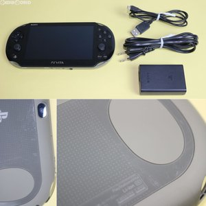 『中古即納』{訳あり}{本体}{PSVita}PlayStationVita Wi-Fiモデル カーキ/ブラック(PCH-2000ZA16)(20131010)