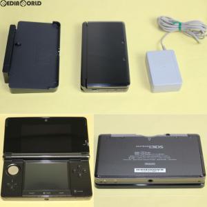 『中古即納』{訳あり}{本体}{3DS}ニンテンドー3DS コスモブラック(CTR-S-KAAA)(20110226)|mediaworld-plus